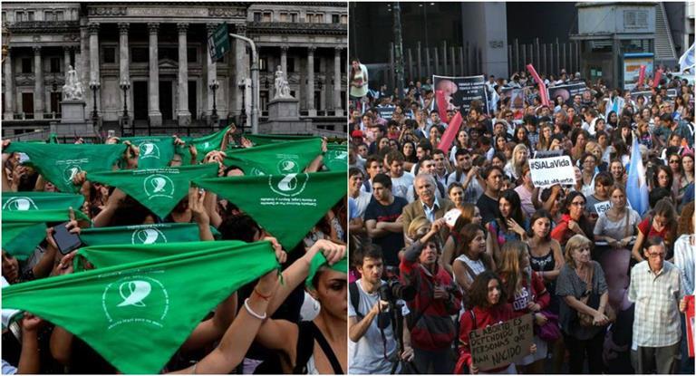 Marchas a favor y en contra de la despenalización