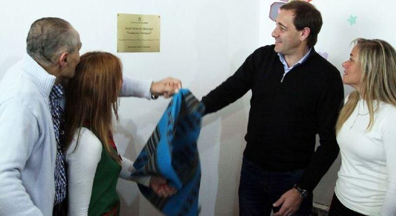 Garro participó de la inauguración del Jardín Maternal