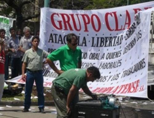 Los gráficos se fueron decepcionados del Ministerio de Trabajo porque faltaron los directivos de Clarín