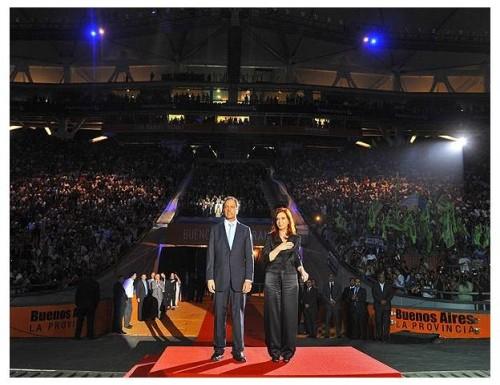 Cristina Fernández y Daniel Scioli encabezaron la inauguración del Estadio de La Plata