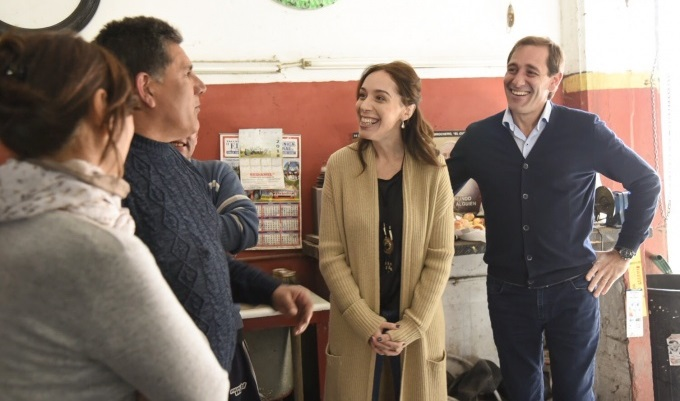 Vidal acompañó a Garro en la recorrida por las obras finalizadas del derivador de La Plata