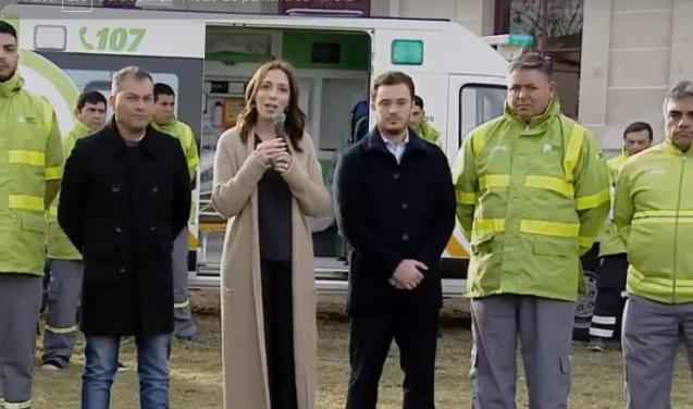 Vidal inauguró nuevas ambulancias para el SAME en Moreno